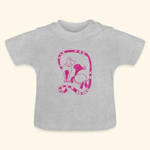 Baby Shirt - Cat & Turtle - Baby T-Shirt