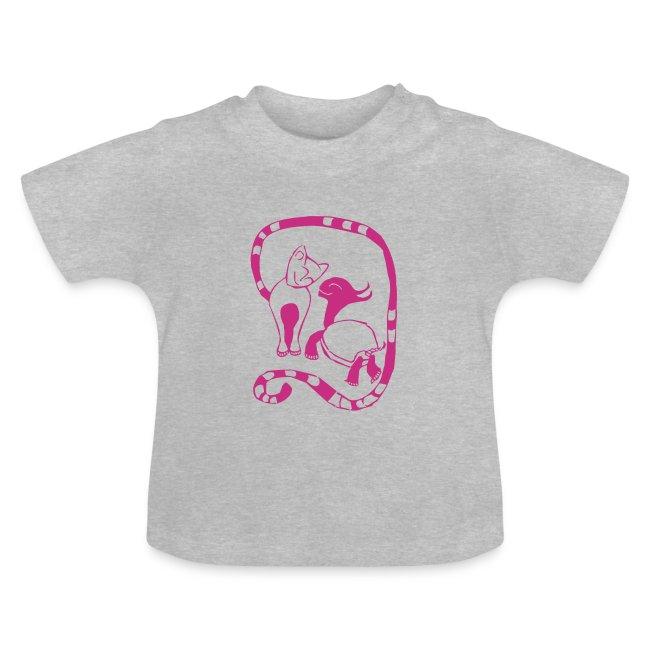 Baby Shirt - Cat & Turtle
