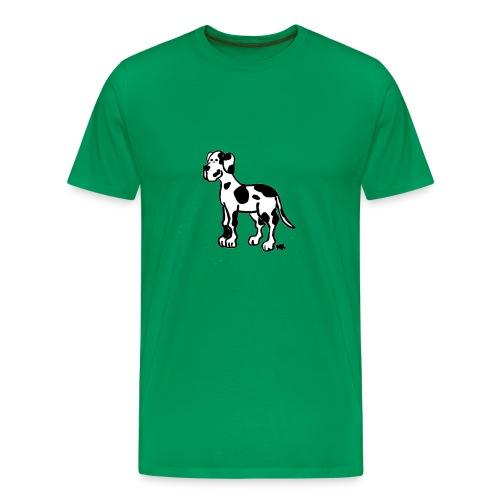 Männer - Shirt Dogge gefleckt - Männer Premium T-Shirt