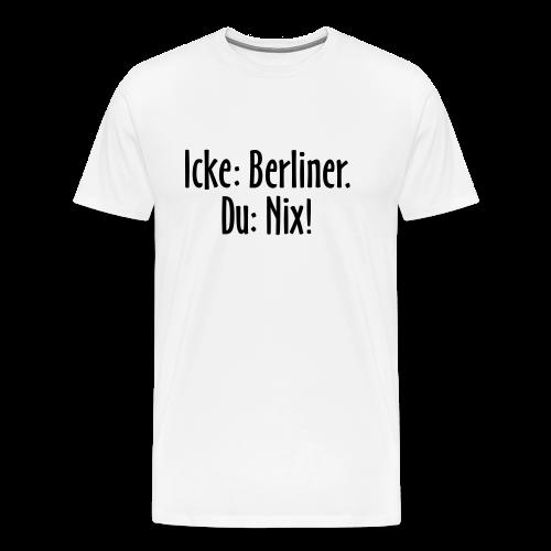 Icke Berliner T-Shirt (Herren Weiß/Schwarz) - Männer Premium T-Shirt