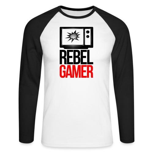 RebelGamer Logo Baseballshirt  - Männer Baseballshirt langarm