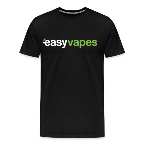 Men - Easy Vapes (white on black) - Mannen Premium T-shirt