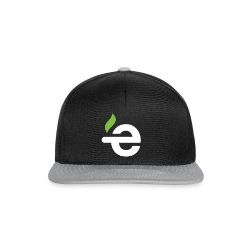 Snapback - E logo (white on black/grey) - Snapback cap