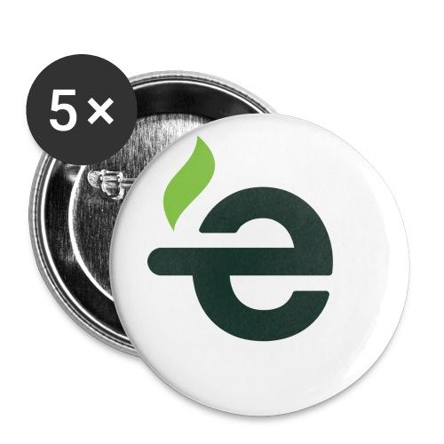 5 Buttons - E logo - Buttons groot 56 mm