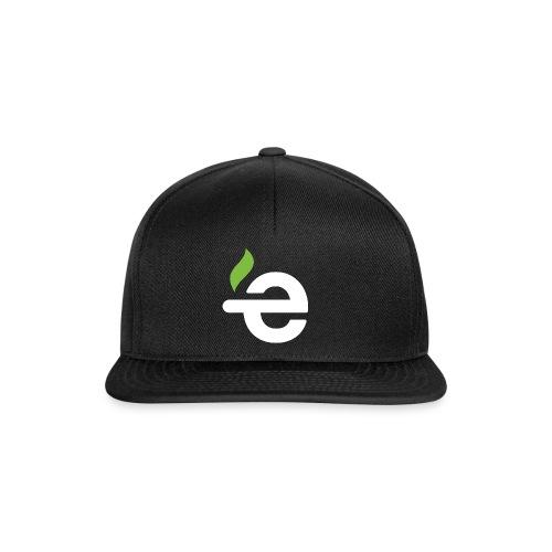 Snapback - E logo (white on black) - Snapback cap