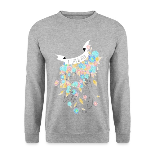 Sweat : A fleur de peau (coupe homme) - Sweat-shirt Homme