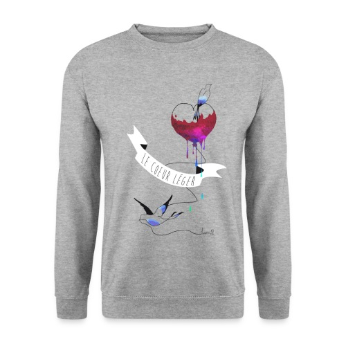 Sweat : Le coeur léger (coupe homme) - Sweat-shirt Homme