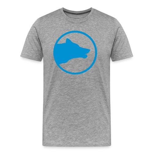Blue/Grey Husky Shirt - Männer Premium T-Shirt