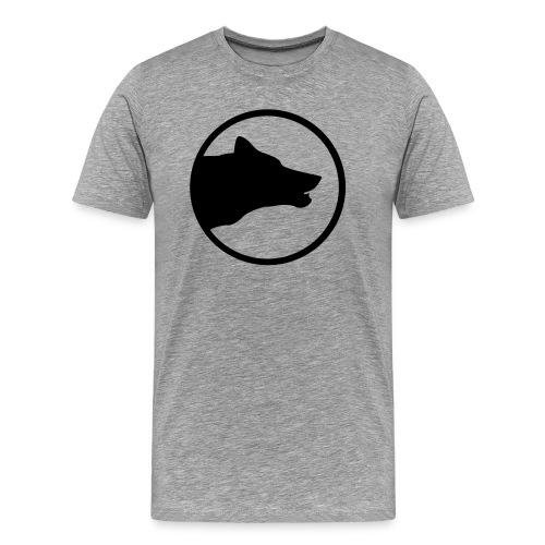 Black/Grey Husky Shirt - Männer Premium T-Shirt