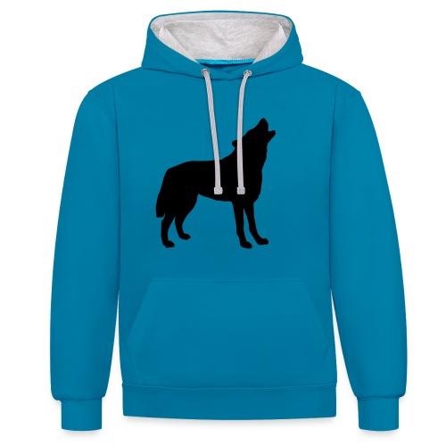 Blue Husky Hoodie - Kontrast-Hoodie