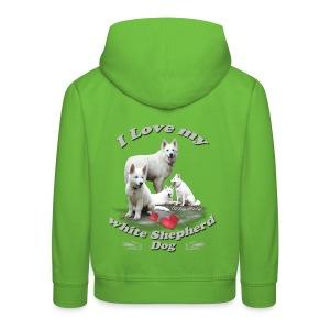 weißer schweizer schäferhund - Kinder Premium Hoodie