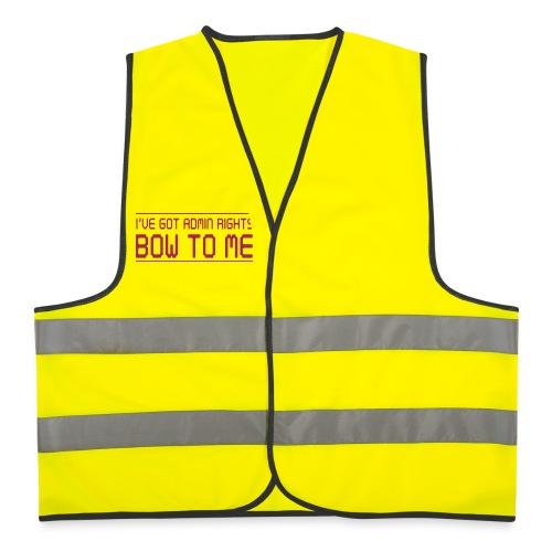 XellCraft Admin rights reflective vest - Reflective Vest