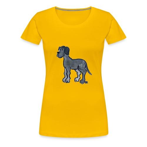 Frauen - Shirt Dogge schwarz - Frauen Premium T-Shirt