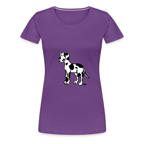 Frauen - Shirt Dogge gefleckt - Frauen Premium T-Shirt