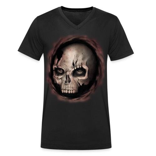 Skull - T-shirt ecologica da uomo con scollo a V di Stanley & Stella