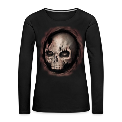 Skull - Maglietta Premium a manica lunga da donna