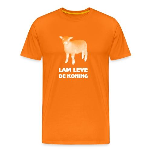 Lam leve de Koning (met lammetje) - Mannen Premium T-shirt