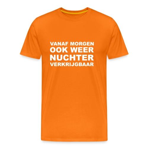 Koningsdag 'drink' shirt - Vanaf morgen weer nuchter verkrijgbaar - Mannen Premium T-shirt