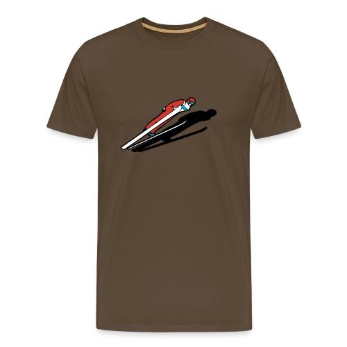 Skihopper - Premium T-skjorte for menn