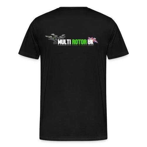 Multi Rotor UK T-Shirt Logo On Back Up To 5XL - Men's Premium T-Shirt