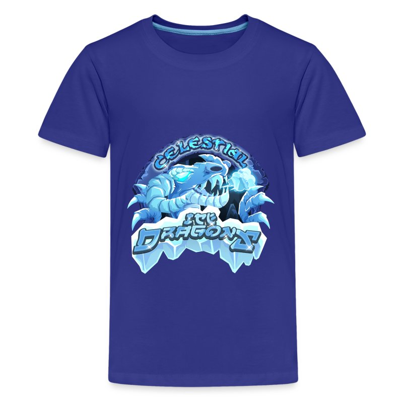 Celestial Ice Dragons - Teenage Premium T-Shirt