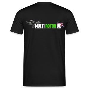 Multi Rotor UK T-Sirt Logo On Back Up To 3XL - Men's T-Shirt