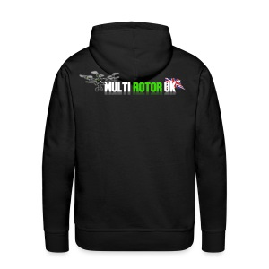 MultiRotor UK Hoodie Logo On The Back - Men's Premium Hoodie