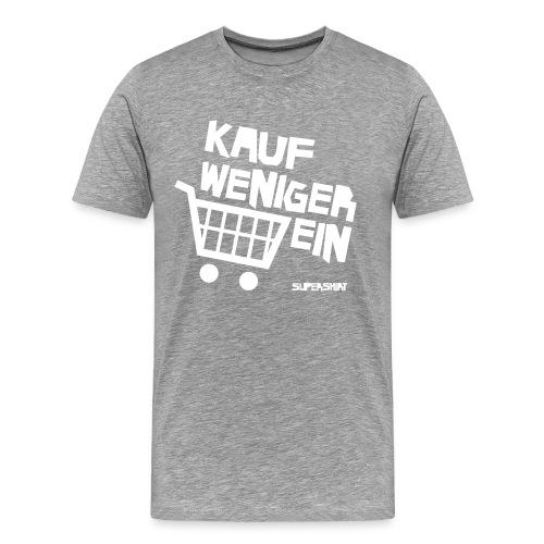 T-Shirt Kauf Weniger Ein (grau-meliert) - Männer Premium T-Shirt