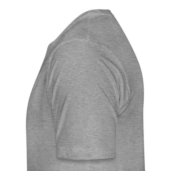 """T-Shirt """"Kauf Weniger Ein"""" (grau-meliert)"""