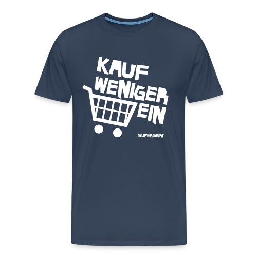 T-Shirt Kauf Weniger Ein (blau) - Männer Premium T-Shirt
