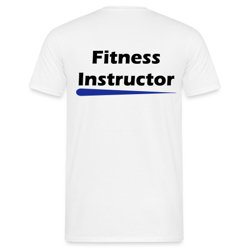 Rear Print - Fitness Instructor - Men's T-Shirt