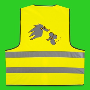 Igel und Maus coloriert, Safety Vest - Warnweste