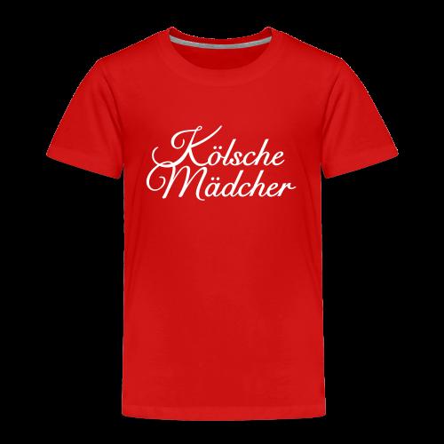 Kölsche Mädcher Classic (Weiß) Kinder T-Shirt - Kinder Premium T-Shirt