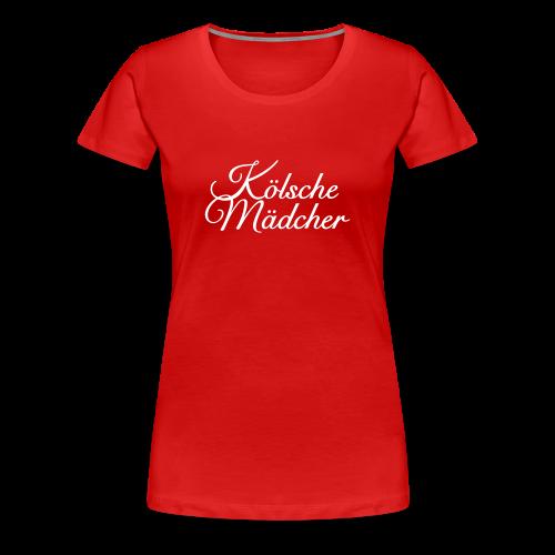 Kölsche Mädcher Classic (Weiß) S-3XL T-Shirt - Frauen Premium T-Shirt