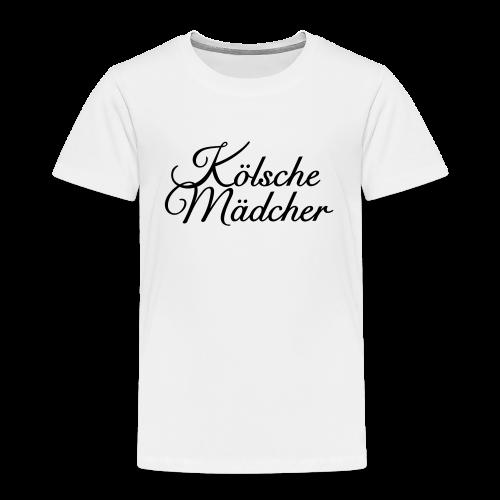 Kölsche Mädcher Classic (Schwarz) Kinder T-Shirt - Kinder Premium T-Shirt