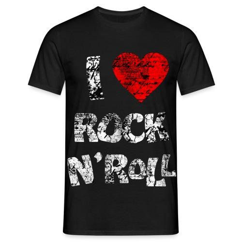 I Love Rock - Männer T-Shirt