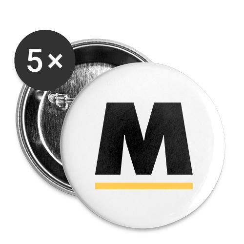 Motpol-pin - Små knappar 25 mm (5-pack)