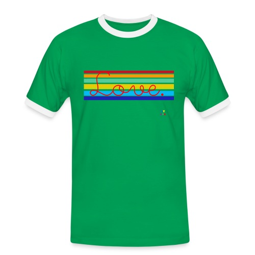 Love School Rainbow Homme - T-shirt contrasté Homme