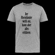 Rheinländer T Shirt Spruch (Herren Grau/Schwarz)