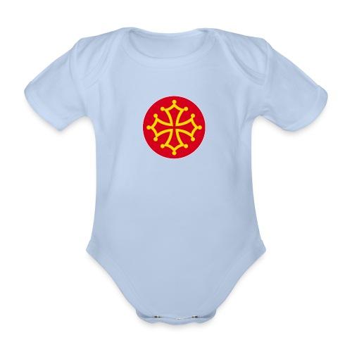 Body neonato con croce occitana - Body ecologico per neonato a manica corta