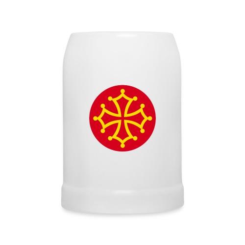 Boccale con croce occitana - Boccale per birra