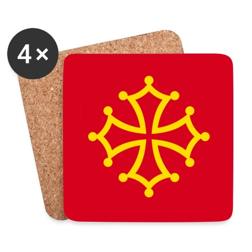 Sottobicchieri con croce occitana - Sottobicchieri (set da 4 pezzi)