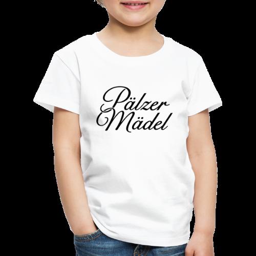 Pälzer Mädel Kinder T-Shirt (Weiß/Schwarz) - Kinder Premium T-Shirt