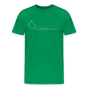 MPS Logoschriftzug &Walking Together - Women 3XL Shirt (Men Fit) - Print: Light Green - Männer Premium T-Shirt