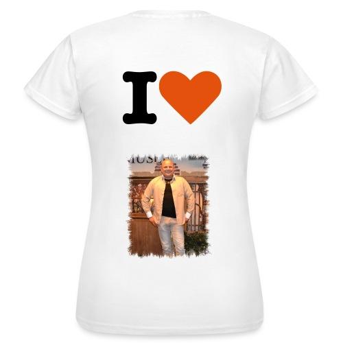 dames shirt i love mike davids - Vrouwen T-shirt