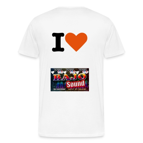 shirt i love bajosound - Mannen Premium T-shirt