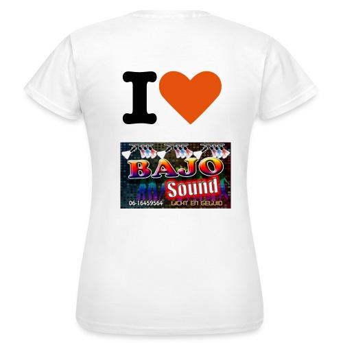 dames shirt i love bajosound - Vrouwen T-shirt