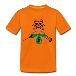 Kinder T-Shirt-orange / Pharma-Totenkopf-Spritze - Kinder Premium T-Shirt