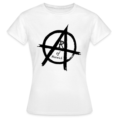 #ANARTISTSUPRISING womens arT-Shirt with black logo - Women's T-Shirt