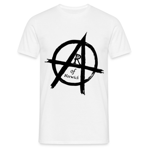 #ANARTISTSUPRISING mens arT-Shirt with black logo - Men's T-Shirt